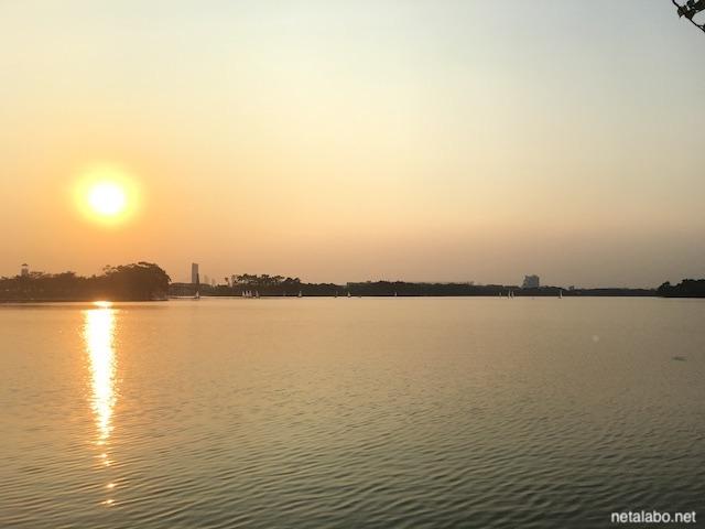ノンボン公園の夕日