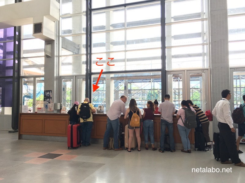 ビエンチャンのワットタイ国際空港でSIMカードを購入