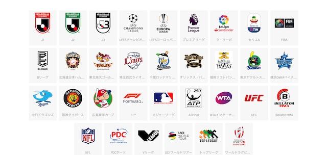 DAZN(ダゾーン)のスポーツコンテンツ