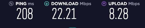 月餅VPN使用時のWi-Fiの通信速度(IKEv2)