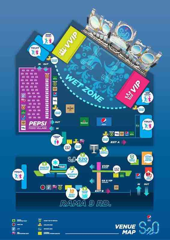 S2O Songkran 2019の会場マップ
