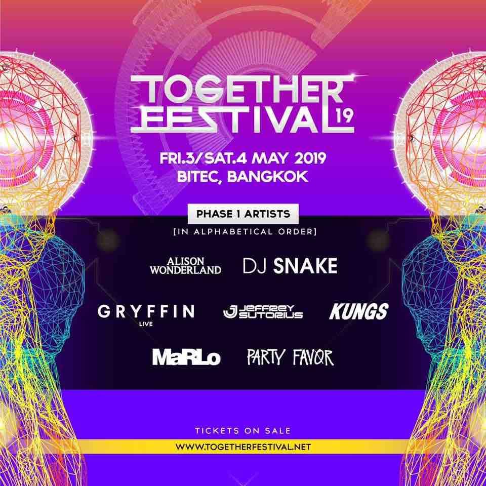 Together Festival 2019のラインナップ