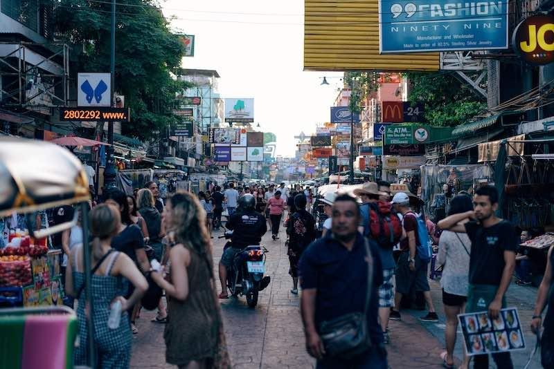 タイ・バンコクのカオサンロード