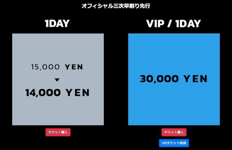 S2O JAPAN 2019のチケット(早割&VIP)